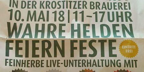 Himmelfahrtskommando in Krostitz (11 - 13 Uhr & Wolfsburg (17.30 Uhr). Checkt di