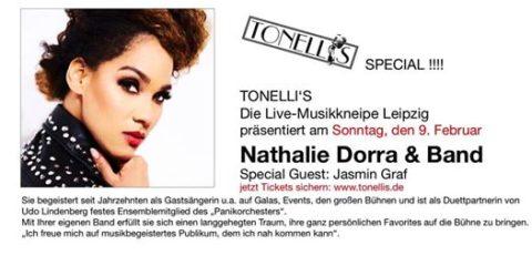 Nathalie Dorra & Band im Tonelli's