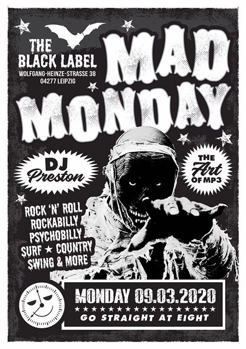 Morgen!!! R'n'R Entertainment mit DJ Preston im Black Label zu Connewitz! 20 Uhr