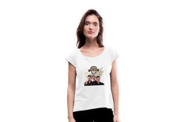 TOM TWIST Band - Frauen T-Shirt mit gerollten Ärmeln | Prestons ShopnRoll